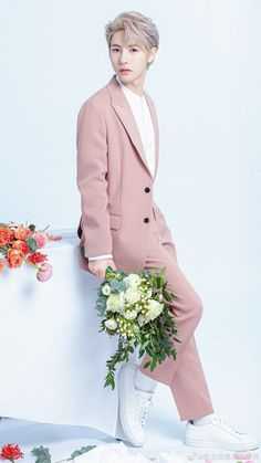 Ntc Dream, Pink Suit, Huang Renjun, Jisung Nct, Jaehyun Nct, Na Jaemin, Winwin, Pink Aesthetic, Handsome Boys
