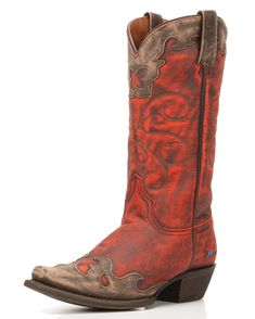 Explode onto the scene in the Nikki Cowgirl Boot by Redneck Riviera! A confident combination of expert overlays and eye-catching colors, this overlaid boot for women is perfect for a night out or everyday trend-setting. Inside, a 3-layer cushioned insole provides walking comfort from step one. Make your own rules in the Nikki Cowgirl Boot.