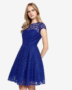 Embroidered floral dress - Blue | Dresses | Ted Baker UK