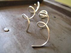 Sterling Silver Corkscrew Spiral Earrings by AutumnEquinox on Etsy https://www.etsy.com/listing/197487711/sterling-silver-corkscrew-spiral
