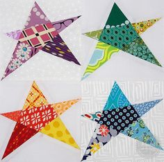"""Awesomesauce! Free lovely """"Confetti Star Block"""" pattern by Amy Friend of During Quiet Time. Pattern available here: http://www.craftsy.com/pattern/quilting/other/confetti-star-block/66255"""