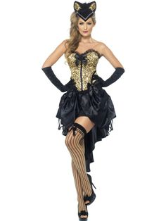 0d903f054a This Burlesque Kitty Costume Includes corset and skirt Small Dress Size 8 -  10 Bust 34 - 35 Waist 26 - 27 Hips 37 - 38