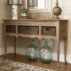 I love this piece but think it'd be even cuter in a fun color!  :)  I pinned this Down Home Sideboard from the Country Elegance event at Joss and Main!