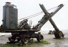 A derelict steam shovel in Alaska Heavy Construction Equipment, Heavy Equipment, Diorama, Steam Tractor, Train Truck, Mining Equipment, Old Tractors, Heavy Machinery, Steam Engine