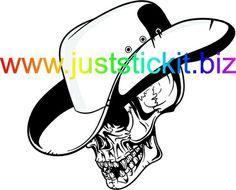 Skull Cowboy Hat - Cowboy Skull (BigAL-114)