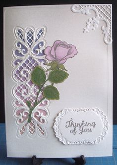 Sue Wilson striplet, JS rose stamp