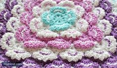 TEXTURED SQUARE AFGHAN PATTERN By MyPicot | Free crochet patterns