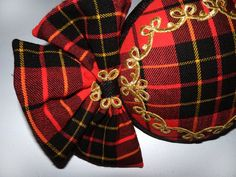 Dutch design tartan cocktalhat with bows by MarcusArtandFashion, $139.00
