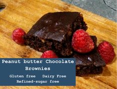 Delicious Peanut Butter Chocolate Brownies that are gluten free, dairy free and refined sugar free. Chocolate Peanut Butter Brownies, Gluten Free Recipes, Free Food, Sugar Free, Dairy Free, Meals, Desserts, Tailgate Desserts, Meal