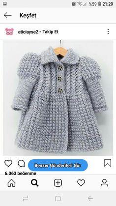 Baby Sweater Knitting Pattern, Baby Knitting Patterns, Knitting Designs, Yarn Crafts For Kids, Crochet Baby Boots, Girl Dress Patterns, Knitting For Kids, Baby Sweaters, Toddler Girl