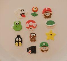 mario cupcakes | Mario Bros Cupcake Toppers - by SugarandSpiceCupcakes on madeit