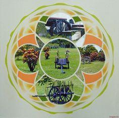 Un autre style pour cette page, faite en atelier, avec le gabarit Water Lily de chez Lea France. Les photos ont été prises dans une distillerie de la Guadeloupe: le Domaine de Séverin voir ici: http://www.severinrhum.com/index.html Le verso de la page,...