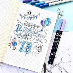 #bulletjournal #bujo #bujoideas #birthday #lettering #handlettering Special Day, Bujo, Hand Lettering, Wish, Bullet Journal, Feelings, Birthday, Happy, Instagram Posts
