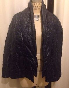 CROSSLEY Made In Italy Navy Blue Deconstructed Women's Jacket Size M