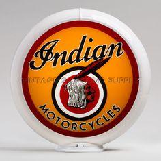 "Indian Motorcycle Head Gas Pump Globe 13.5"" (G144)"