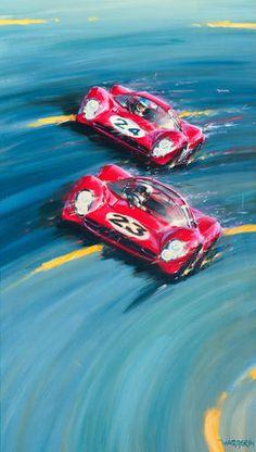 Artist : Klaus Wagger Title : Daytona 67' Media : Original - Oil on Canvas Size : 140 x 80cm Price : P.O.A.