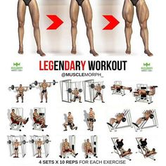 "3,254 Me gusta, 12 comentarios - Bodybuilding & Fitness (@gym.legends) en Instagram: ""You can't spell LEGENDARY without LEG DAY. Want Bigger Legs? Try this workout LIKE if you found…"""