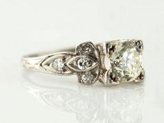 Platinum 1.02 CTR RBC Diamond $6,500.00 I-7925 #platinum diamond ring #westchestergold #designer ring #fashion ring #estate