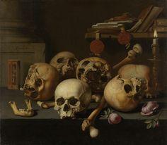 Vanits still life by Aelbert Jansz. van der Schoor, 1640-1672. Rijksmuseum, Public Domain