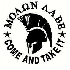 Picture For > Molon Labe Spartan
