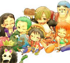 Strawhat Pirates chibi ~♡.♡
