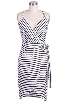 Cupshe Prime of Life Stripe Slip Dress