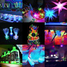 bolos neon - Pesquisa Google #coolglow #partysupplies