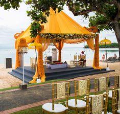 A great mandap for an Indian wedding at a beach! #beachwedding #indianwedding