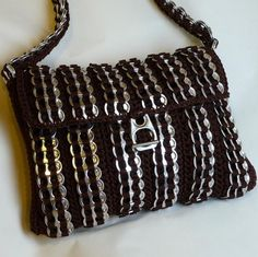 Pop Tab Purse Vertical Stripes by DianeKDesigns on Etsy