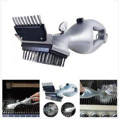 Stainless Steel BBQ Cleaning Brush Outdoor BBQ Grill Brush Barbecue Gr – shopeershub Barbecue Grill, Grilling, Bbq Grill Cleaner, Bbq Accessories, Kitchen Accessories, Grill Brush, Stainless Steel Bbq, Clean Grill, Steam Cleaning