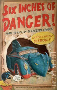 Boy's Wonder  Golden Age Batmobile Hobby Kit art print by Christopher Soprano, $15.00