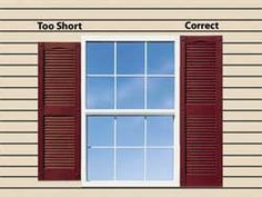 How To Measure for shutters... We'll need this for the sprig time!!