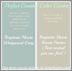 Soothing Paint Color Combo. Soothing paint colors for cabinets and walls…