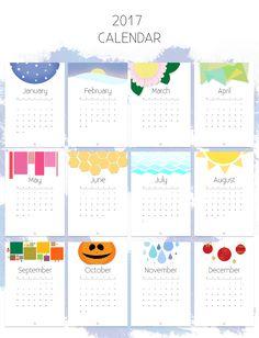 Printable calendar for 2017 // Nyomtatható 2017-es naptár
