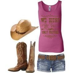 Cute country outfit. Cowboy boots, so cute!