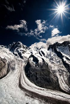 Swiss Alps - Grenzgletscher Glacier
