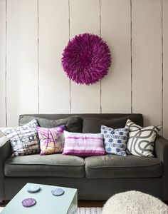 There a pom pom on the wall!