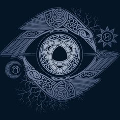 ODIN'S EYE by The Effective Pictures We Offer You About T-shirt print A quality picture can tell you many things. You can find the most beautiful pictures that can be presented to you about T-shirt fo Bild Tattoos, Body Art Tattoos, Sleeve Tattoos, Viking Symbols, Viking Runes, Hugin Munin Tattoo, Corvo Tattoo, Raven Art, Celtic Symbols