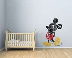Wall Decal of Disney Mickey Mouse 3 colors by RemakeProject