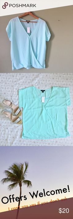 "NWT mint blue flowy blouse - Size: M - Material: 100% polyester - Condition: NWT - Color: mint blue - Style: flowy - Pair with: white jeans and wedges  - Extra notes: other colors in my closet   *Measurements:  Bust: 21"" flat Length: 24""  💥💥💥OFFERS WELCOME💥💥💥 UK2LA Tops Blouses"