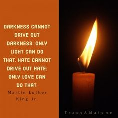 Darkness cannot drive out darkness: only light can do that. Hate cannot drive out hate: Only love can do that. - Martin Luther King Jr.