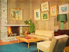 I *still* hate paneling, but I can see from this design why it was so popular.