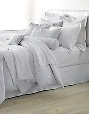 very nice light grey bedding