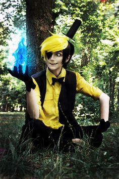 You're burning! Haha - Amadey Zimin(MikeL.Black) Bill Cipher Cosplay Photo…