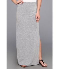 Splendid Column Maxi Skirt with Side Slit