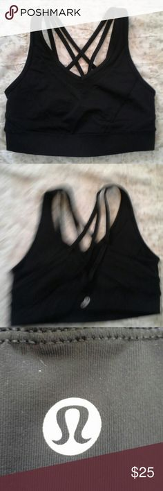 Lululemon size 4 unpadded bra Excellent condition,  no visible signs of wear, 24 and 1/2 inches around, top to bottom is 12 inches lululemon athletica Intimates & Sleepwear Bras
