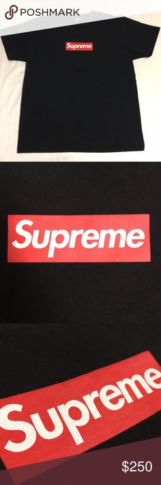 (Worn) Supreme 20th Anniversary Box-Logo Tee Trusted seller. 100% Authentic Guaranteed. Price is FIRM. Worn lightly, ever so slight color fade. Washed twice. Medium. 9/10 condition. Fits true to size. Feel free to leave an offer or a comment! All offers are considered! Bundled items will be offered private discounts! 2+ items bought will be 15% off! Each product is wrapped, packed, and shipped on the same day, unless post office is closed. In that case, I will ship next avaliable day…
