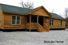 These homes do not have to look like boxcars or trailers. Image Search Results for manufactured home exteriors Log Cabin Modular Homes, Log Cabin Mobile Homes, Log Cabins, Porches For Mobile Homes, Prefab Cabins, Prefab Homes, Remodeling Mobile Homes, Home Remodeling, Bathroom Remodeling