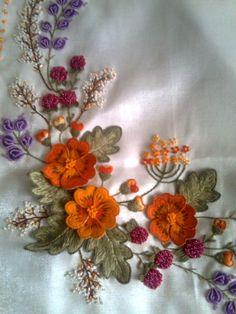 Autumn Spray - makes me think of Nasturtiums • SW