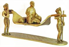 Devotees Carrying Shirdi Sai Baba on Palanquin (Brass))